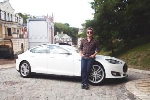 Ресторатор Дима Борисов и Tesla Model S