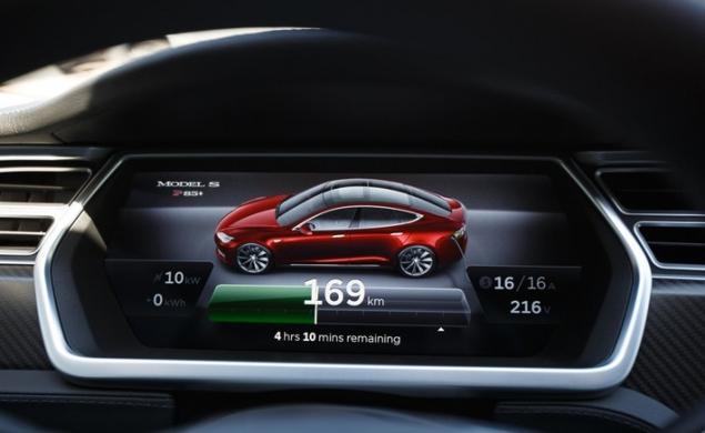 автомобиль тесла потребление электроэнергии при зарядке