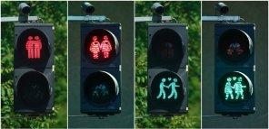 Светофоры для геев произвели впечатление на немцев