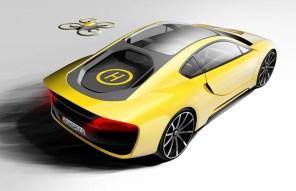 В Швейцарии построили спорт-купе с автопилотом и дроном