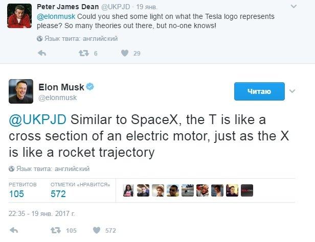 Илон Маск раскрыл тайну логотипа Tesla. Как я не додумался до этого раньше!