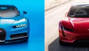 Bugatti против Tesla: как гиперкар проигрывает новинке Илона Маска