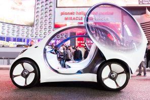 Видео дня: первый заезд полностью автономного электромобиля Mercedes Smart Vision EQ