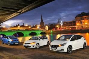 Сравнительный тест. Что круче: новый Nissan Leaf, Renault Zoe или Volkswagen e-Golf?