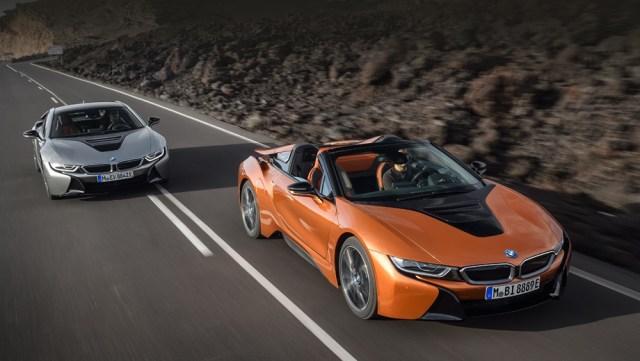В BMW назвали цены на новые гибриды i8 и i8 Roadster