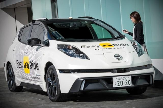 Мама, я еду без рук! В Японии запустят службу такси на беспилотных Nissan Leaf