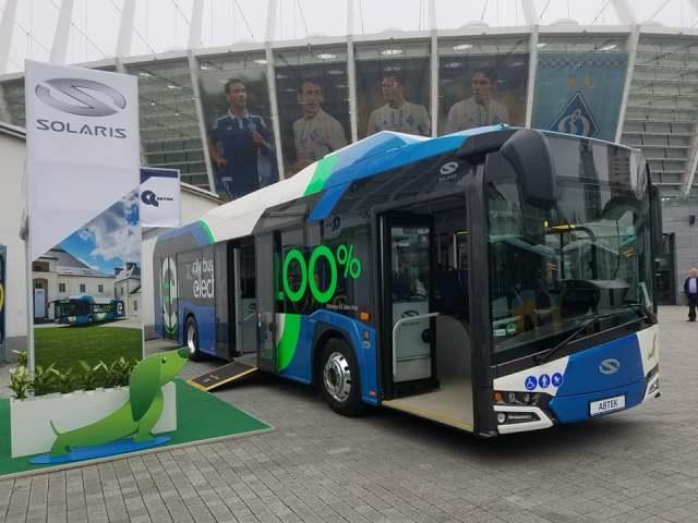150 км на одном заряде: в Киеве показали польский электробус Solaris Urbino 12 Electric