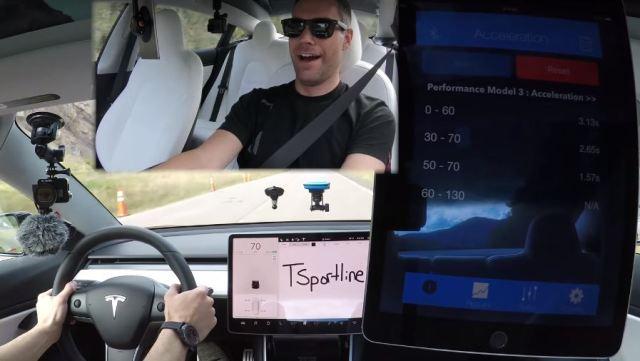 Видео дня: Tesla Model 3 разогнали до сотни за 3,13 секунды