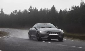 Видео дня: Volvo протестировала свое гибридное купе Polestar на гоночном треке