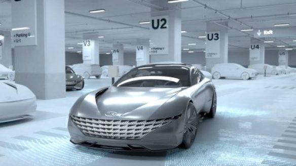 Hyundai создал концепт беспроводной зарядки электромобилей и парковочного автопилота