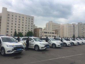 Патрульная полиция получила ещё 83 гибридных кроссовера Mitsubishi Outlander PHEV