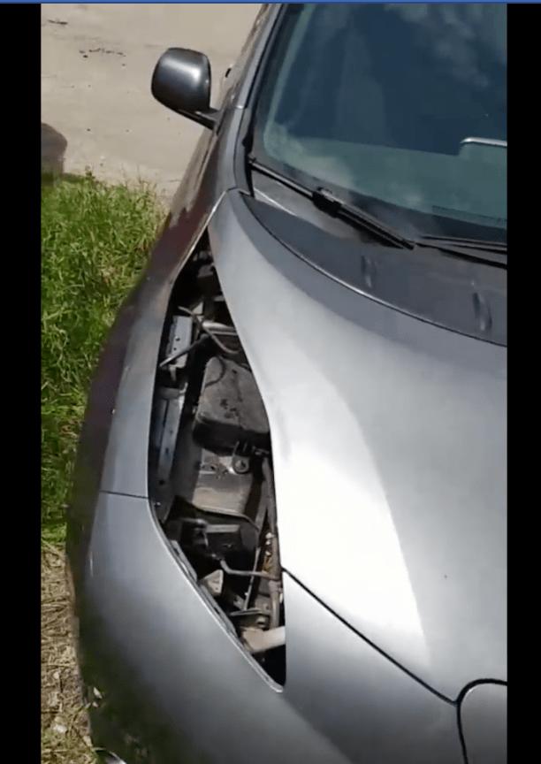 Владелец в растерянности: в Харькове воры разобрали Nissan Leaf на запчасти