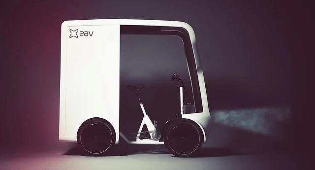 Фургон на базе велосипеда: стартап EAV представил необычное транспортное средство