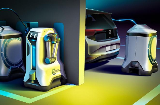 Не такий, як у Tesla: Volkswagen розробив «робота-заправника» для електромобілів