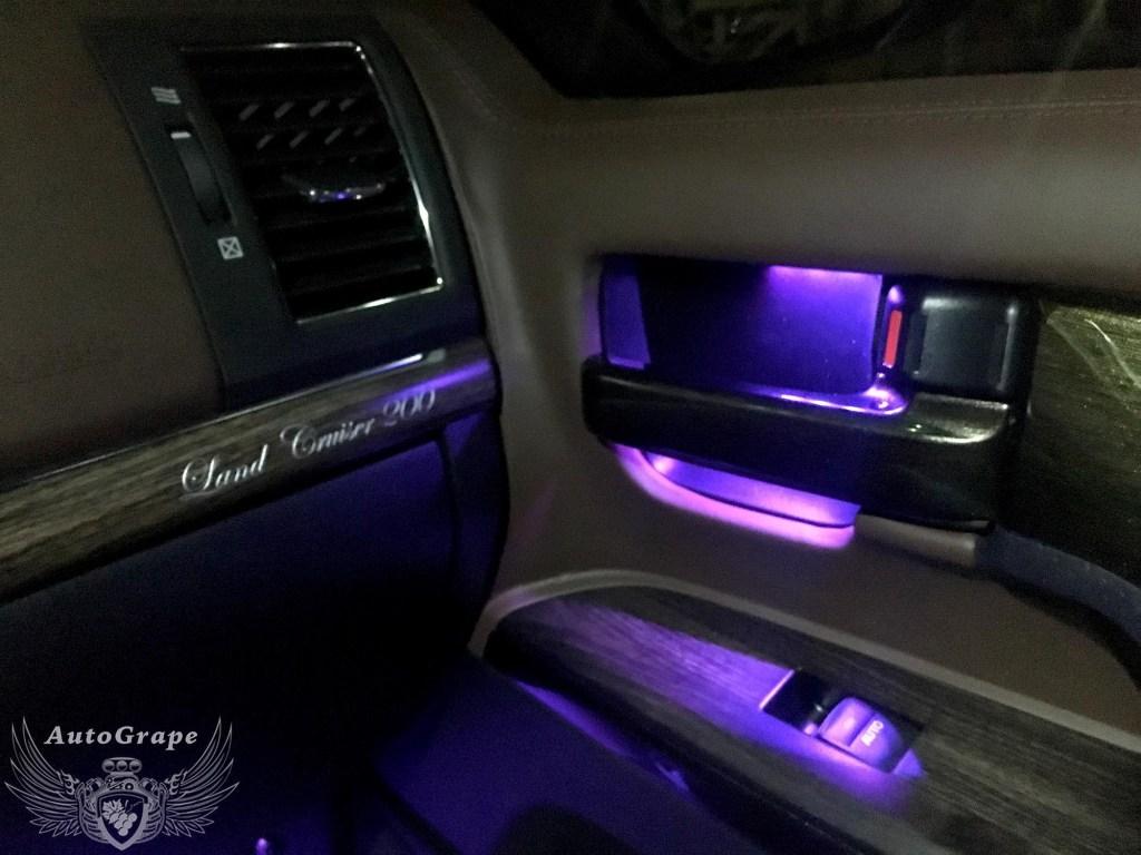 Подсветка дверных ручек Тойота Крузер 200