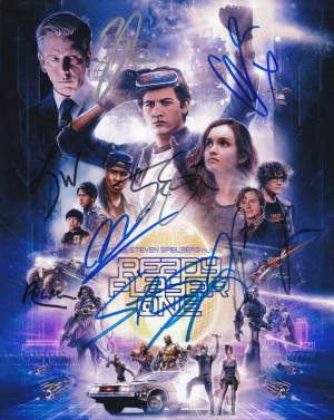 Ready Player One In-person autographed Cast Photo x 8