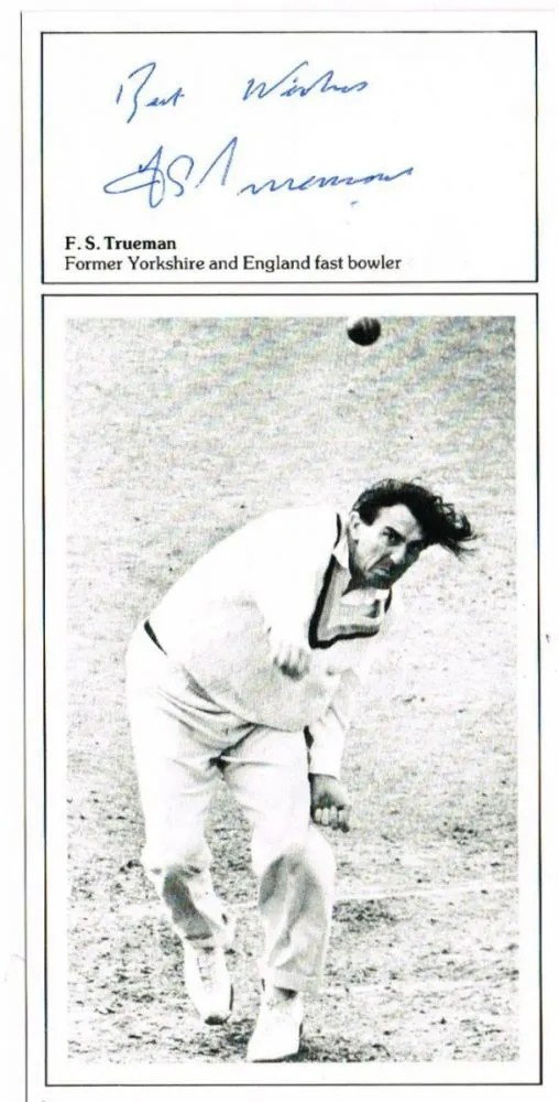 Fred Trueman autograph cricket card