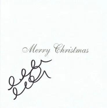Allan McGregor RANGERS FC Autographed Christmas Card