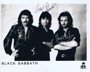 Black Sabbath Autographed photo – Iommi, Powell, Martin