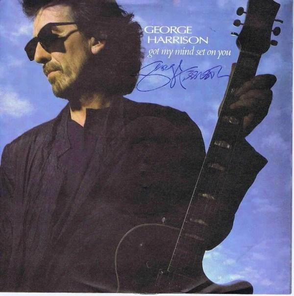 George Harrison autograph single | The Beatles