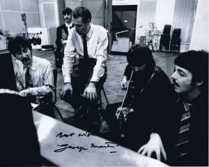 George Martin The Beatles Autographed Photo