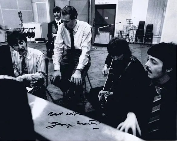 George Martin The Beatles Autographed Photo 3