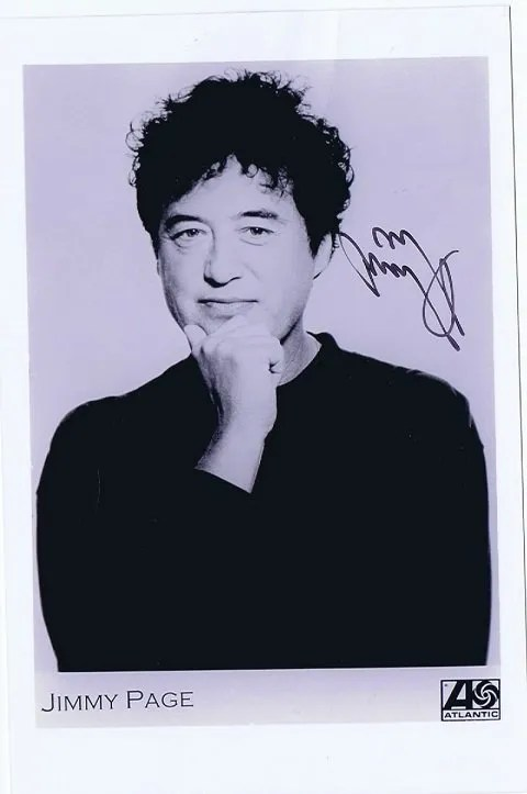 Jimmy Page Autograph promotional photo Led Zeppelin