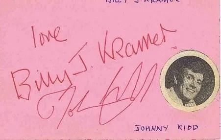 Johnny Kidd and Billy J Kramer Autographs