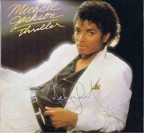 Michael Jackson Autographed Thriller Lp for sale