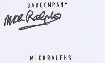 Mick Ralphs autograph Bad Company – Mott The Hoople