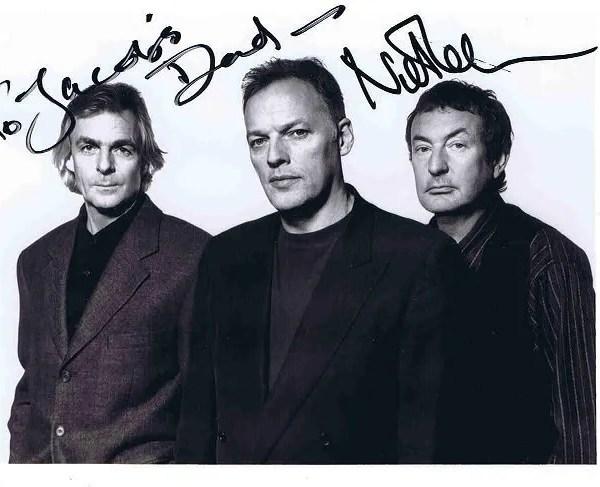 Nick Mason Autographed Pink Floyd photo