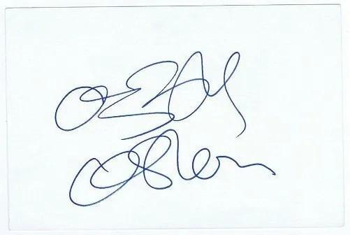 Ozzy Osbourne Black Sabbath Autographed Card 6×4″