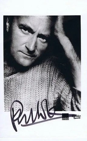 Phil Collins Autograph photo The Genesis
