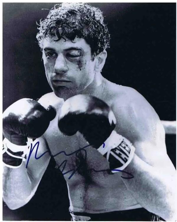 Robert DeNiro Autograph Raging Bull photo