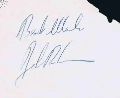 John Bonham Autographs and Autograph Examples