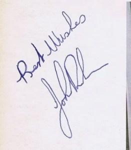 John Bonham autograph led zeppelin 2