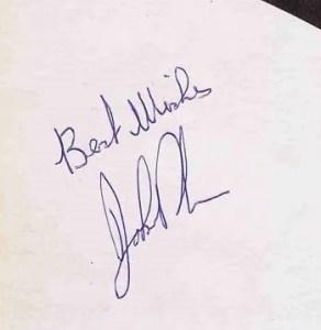 John Bonham autograph led zeppelin 5