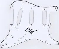 john deacon autograph fender stratocaster pickguard
