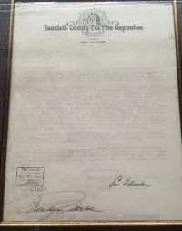 Marilyn Monroe Autograph signed Fox Contract 1950 – PSA/DNA