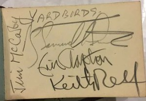 The Yardbirds with Eric Clapton Autographs