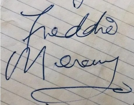 freddie mercury 1973 autograph 1