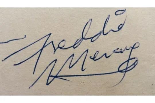 freddie mercury 1975 autograph 1
