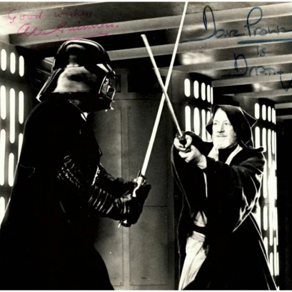 Alec Guinness and Dave Prowse Autograph Photo