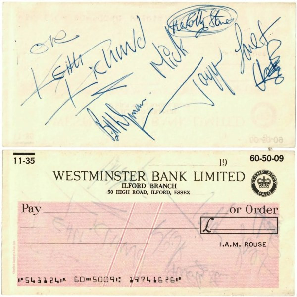 The Rolling Stones Autographs And Signatures For Sale