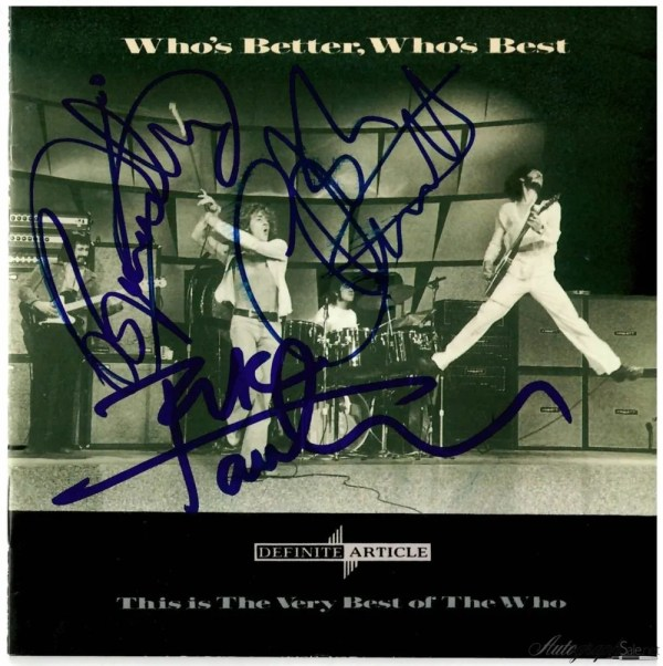 The Who Autographs CD Cover Who's Better Who's Best