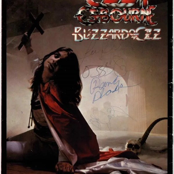 Ozzy Osbourne signed Blizzard of Ozz Tour programme with Randy Rhoads