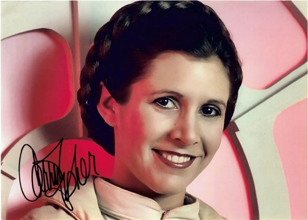 Carrie Fisher Autograph for sale Princess Leia Star Wars 12×8
