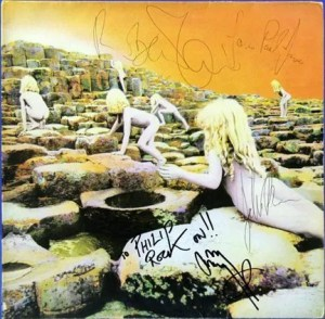 Led Zeppelin autographs houses of the holy
