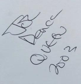 john deacon autographs 2003