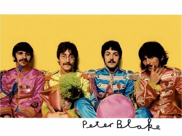 Peter Blake Autograph photo | The Beatles Sgt Peppers
